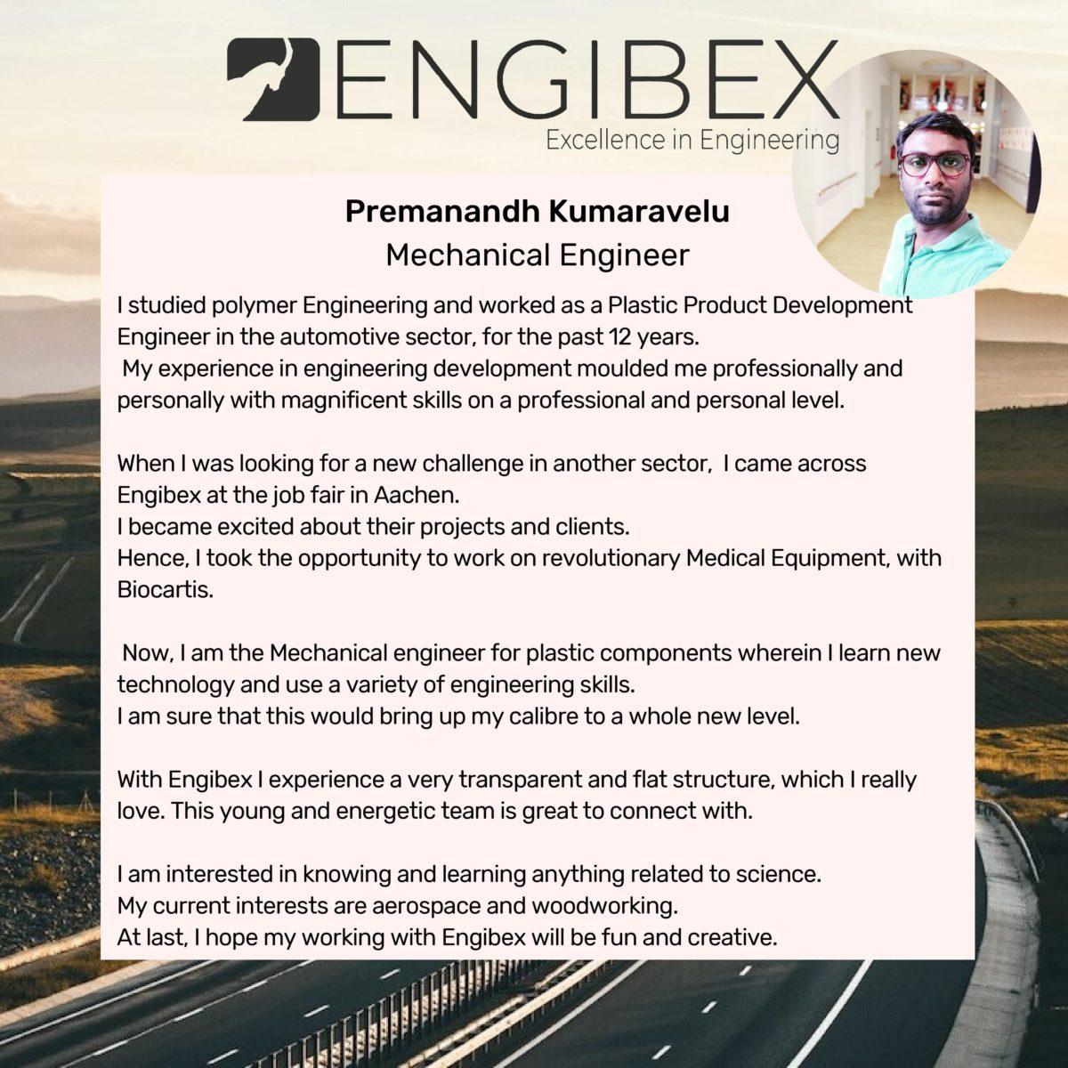 Engibex Consultant - Premanandh Kumaravelu