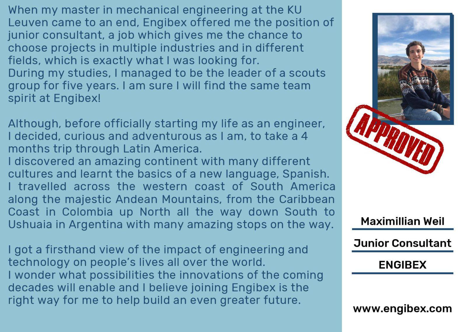 Engibex Consultant - Maximillian Weil