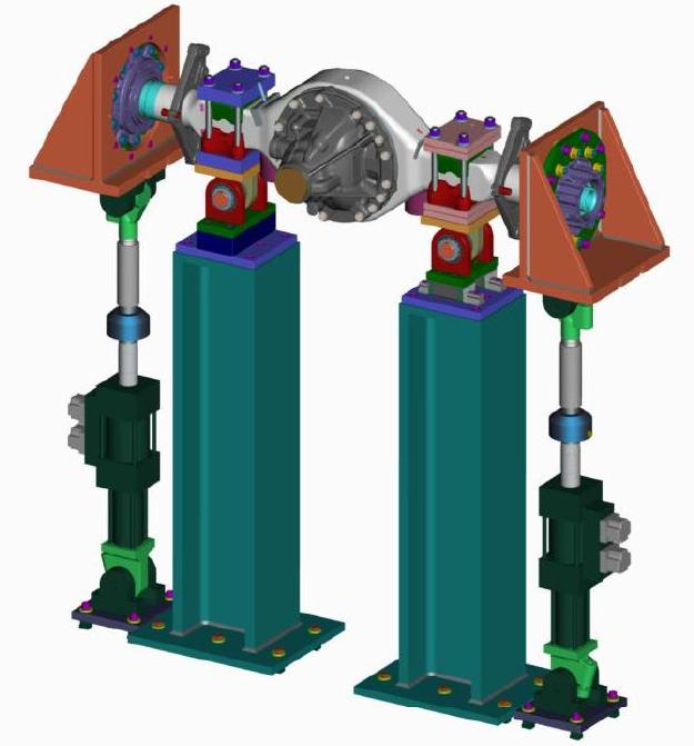 DoF test bench for vertical load solicitations